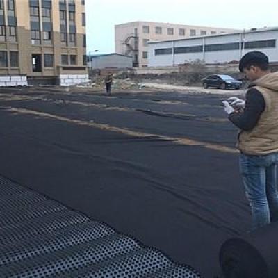 车库顶板排水板铺设